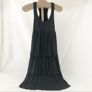 ATHLETA sz XS Black tank dress tiered ruffles